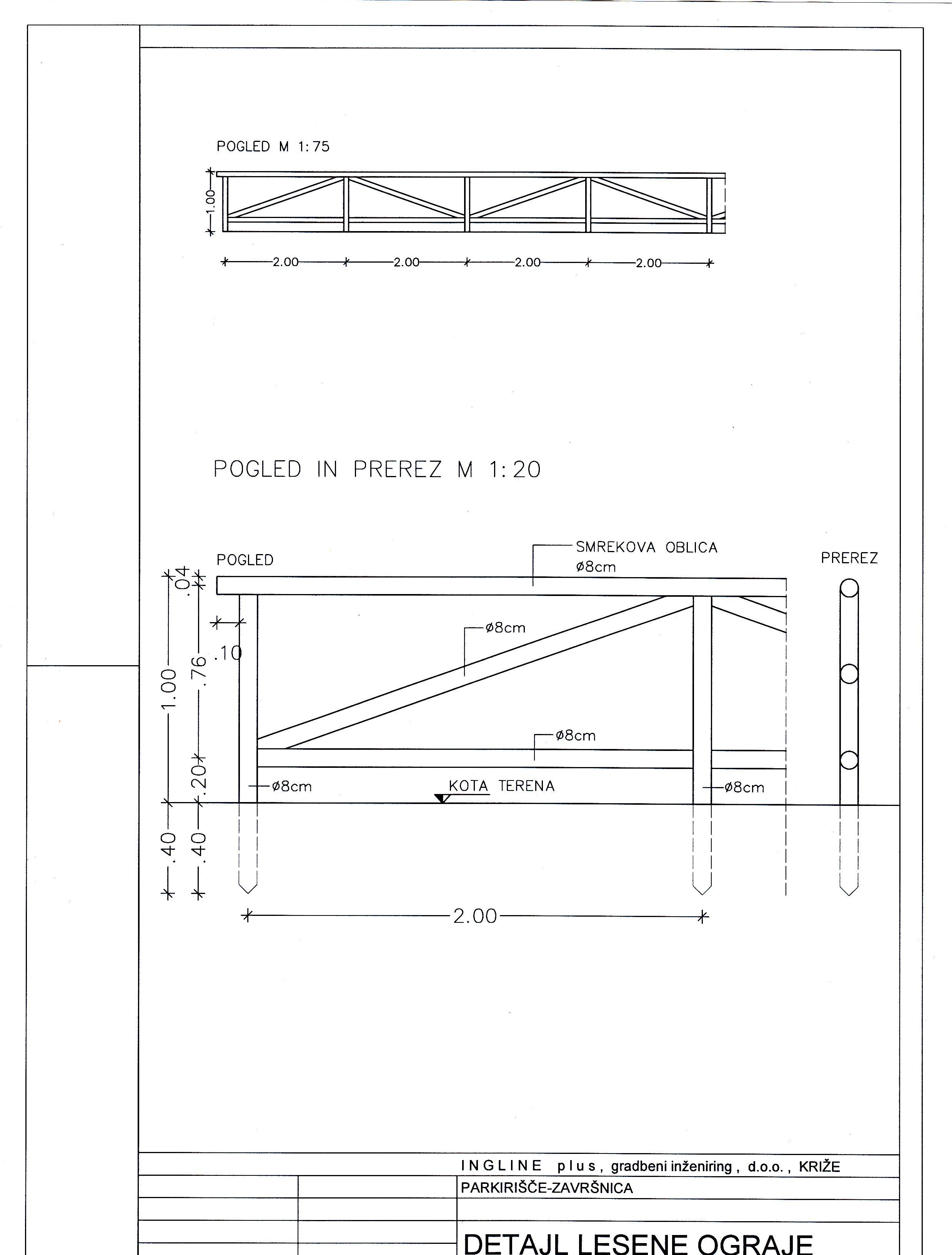 detajl lesene ograje
