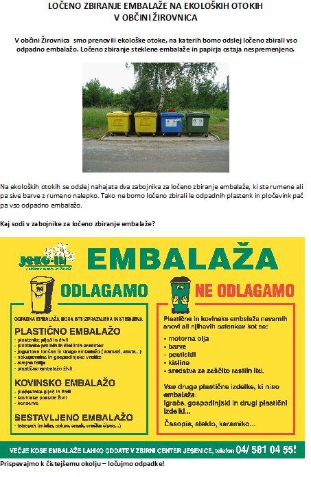 obvestilo - loeno zbiranje odpadkov