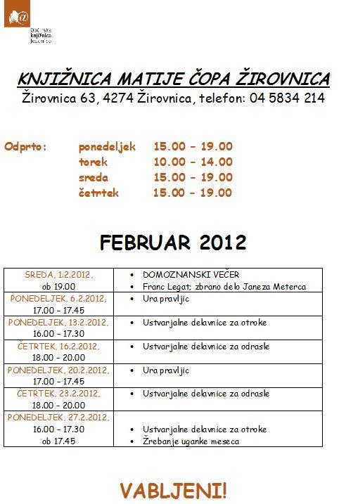 program za delavnice februrar 2012