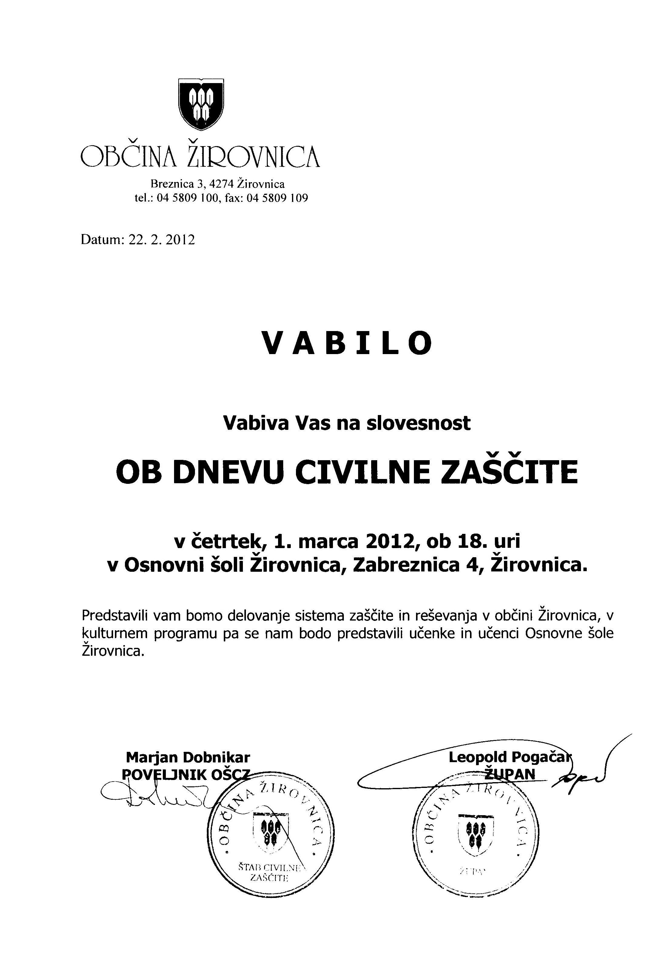 VABILO CZ 1
