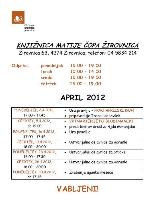 program za delavnice april 2012