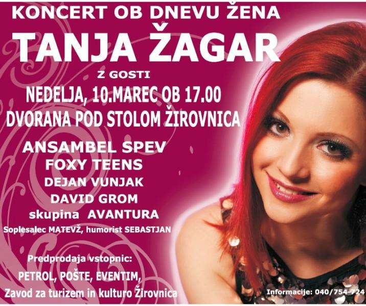 vabilo na koncert Tanja agar