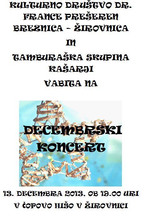 vabilo na koncert - Tamburai