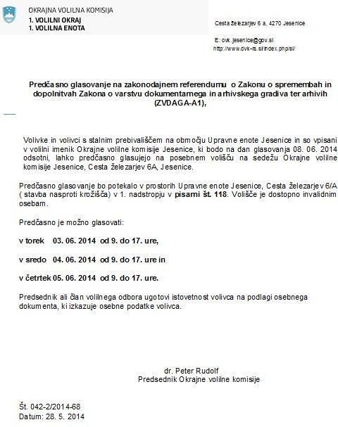 obvestilo o predasnem glasovanju - ZVDAGA(1)