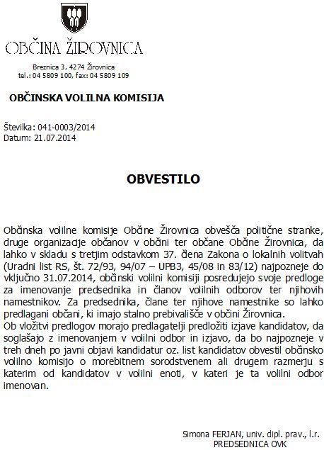 obvestilo za predlaganje lanov volilnih odborov-2014 - 1.doc(1)