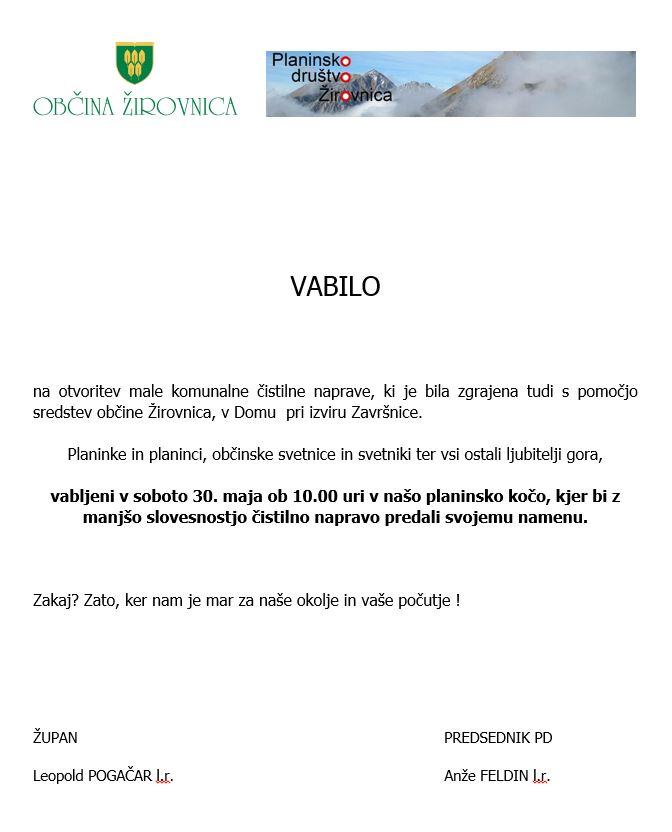 Vabilo Zelenica (1)