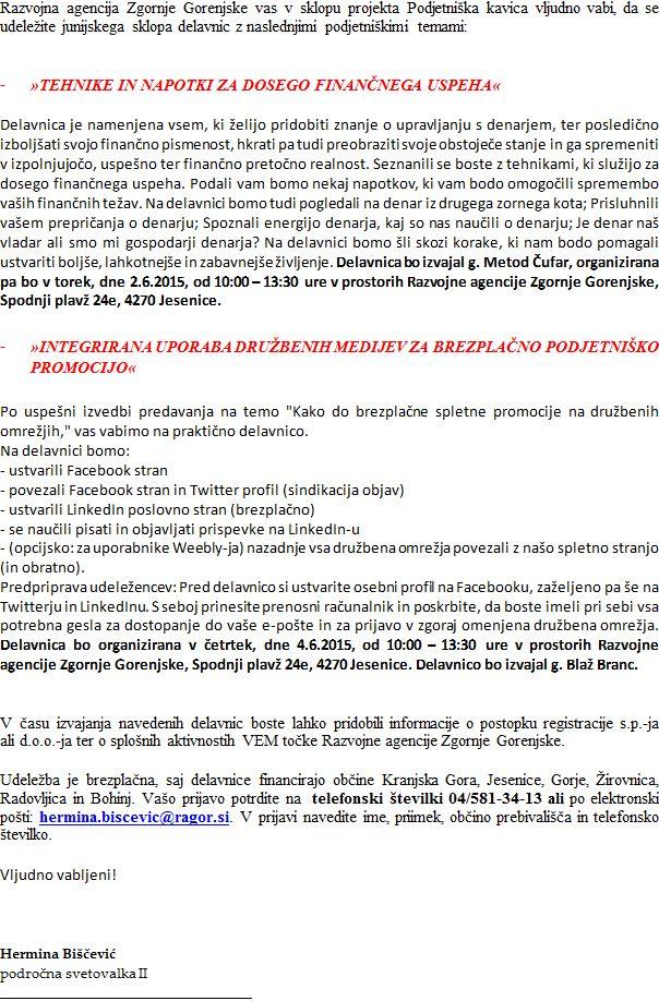 vabilo na junijske podjetnike delavnice (1)