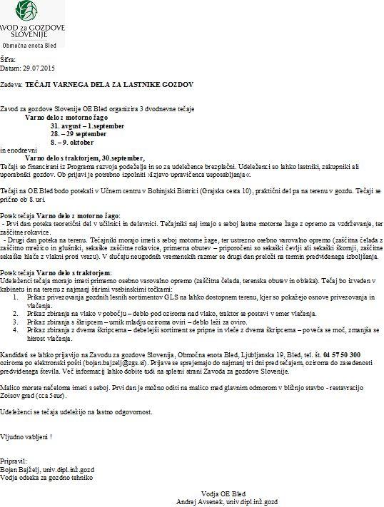 Obvestilo - Teaji varnega dela (1)