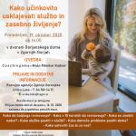 19.10. 2020 16:00 Kako učinkovito usklajevati službo in zasebno življenje - VABILO